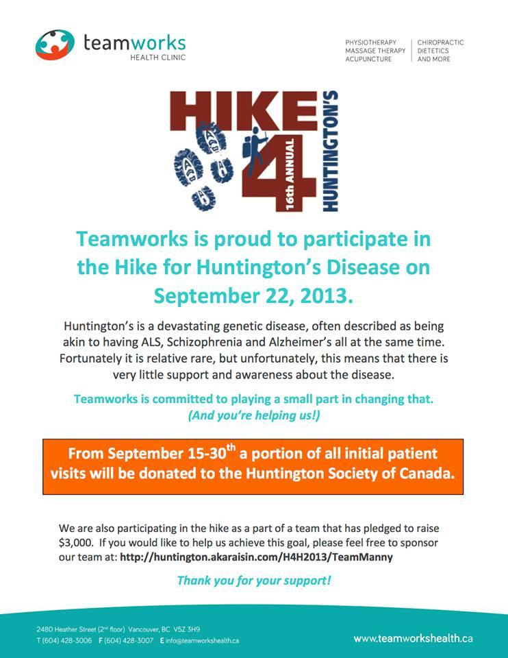 Annual Hike 4 Huntington's 2013